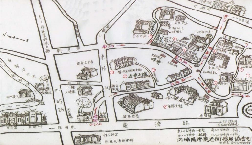 內埔老街導覽圖
