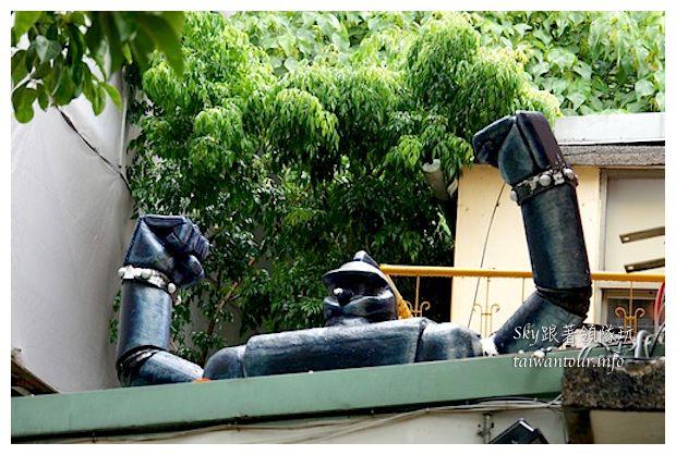 台中綠園道機器人主題餐廳鐵皮駛2_1