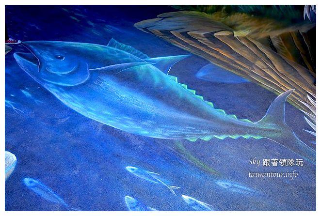 宜蘭蘇澳景點祝大魚3D彩繪360度海底隧道07127