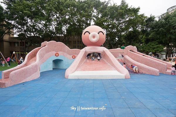 【溪生態休閒公園北】板橋親子景點溜滑梯章魚造型