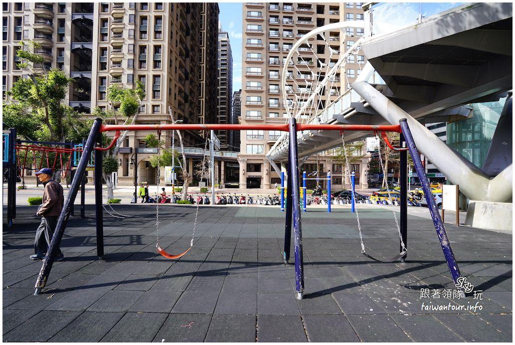 板橋景點推薦-兩層樓高溜滑梯【板橋第一運動場】