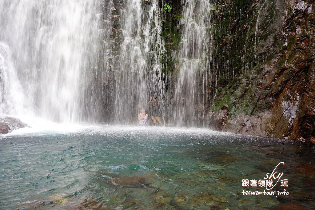 桃園景點推薦【幽靈瀑布.水濂洞】復興鄉拉拉山秘境瀑布群