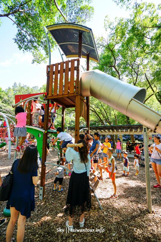 天母共融式兒童遊戲場【天和公園】木屑鋪面.古井溪流景點推薦