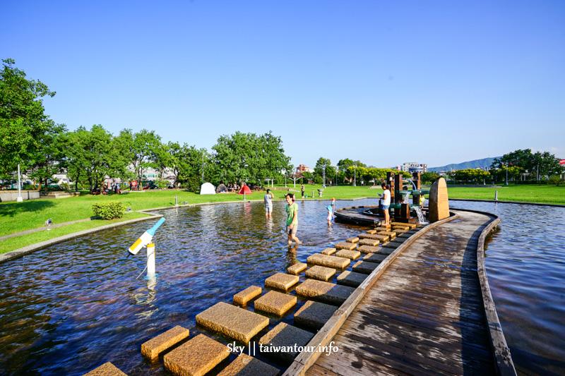 2020內湖景點推薦【內湖運動公園】免費親子玩水.攀岩.玩沙