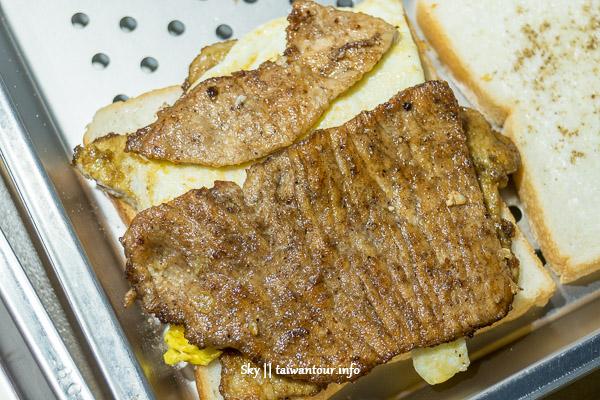新北美食推薦-必吃早餐【晨吉司漢肉排蛋吐司||新莊中和店】