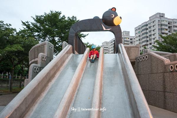 桃園景點推薦【玉山公園】台灣黑熊滑石子溜滑梯