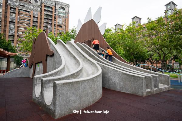 桃園景點推薦-親子最愛恐龍溜滑梯【溫州公園】