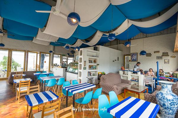 新北景點推薦【藍色公路咖啡廳】IG熱點林口無敵海景