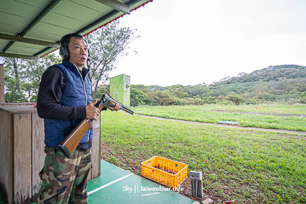 林口實戰射擊的快感【射擊飛靶40發大挑戰】奧丁丁在地體驗
