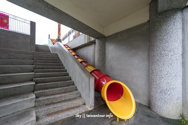 新北樹林景點【育德國小】溜滑梯推薦.雨天備案