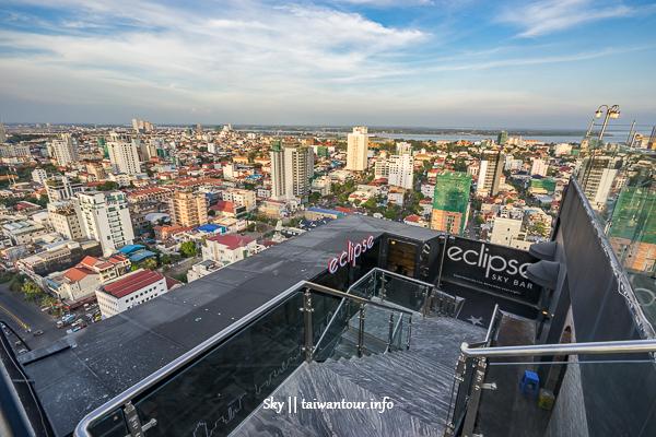 柬埔寨景點推薦-金邊夜景高空酒吧【eclipsc sky bar】