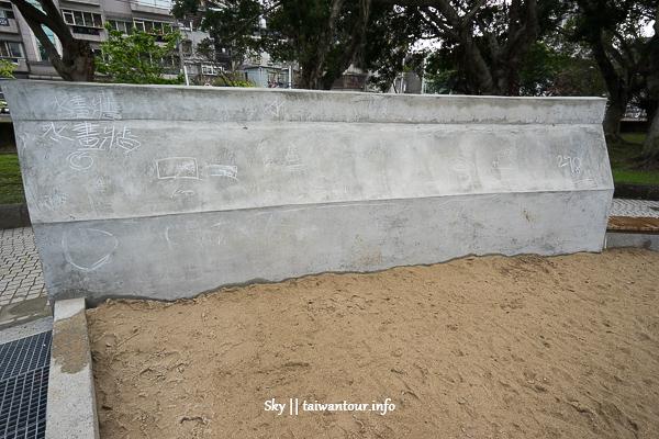 台北親子景點-北投第一座軟片攀爬架溜滑梯【磺港公園】