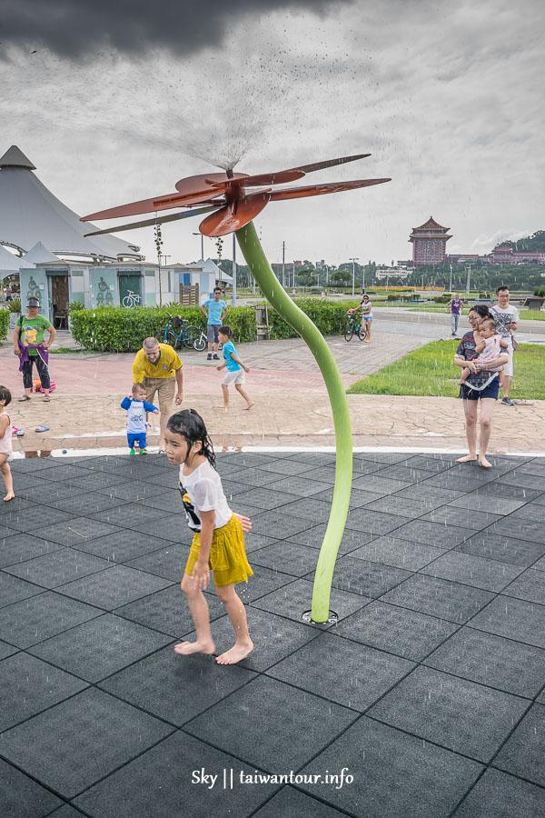 2020台北親子景點【大佳河濱公園】免費玩水.玩沙.溜滑梯