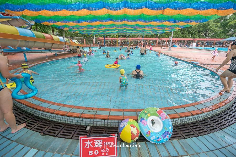 台北親子景點【前港游泳池】士林高CP值玩水滑水道