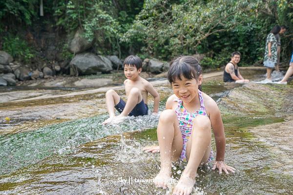 台北玩水景點【內雙溪】士林親子秘境滑水道