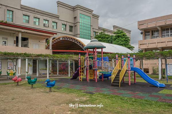 台東親子景點推薦-三樓高溜滑梯【寶桑國小】