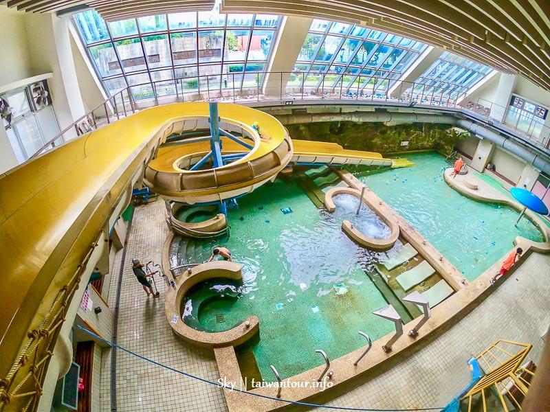 2019台北親子景點【玉泉公園游泳池】室內玩水滑水道雨天備案
