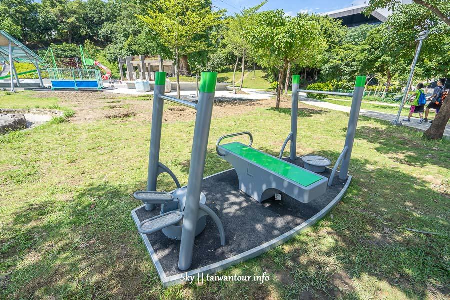 【錦和運動公園】中和親子景點三樓高滾輪溜滑梯.沙坑
