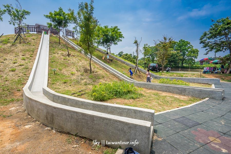 台中親子景點【大雅中科公園-潭雅神綠園道】大雅超狂22公尺溜滑梯