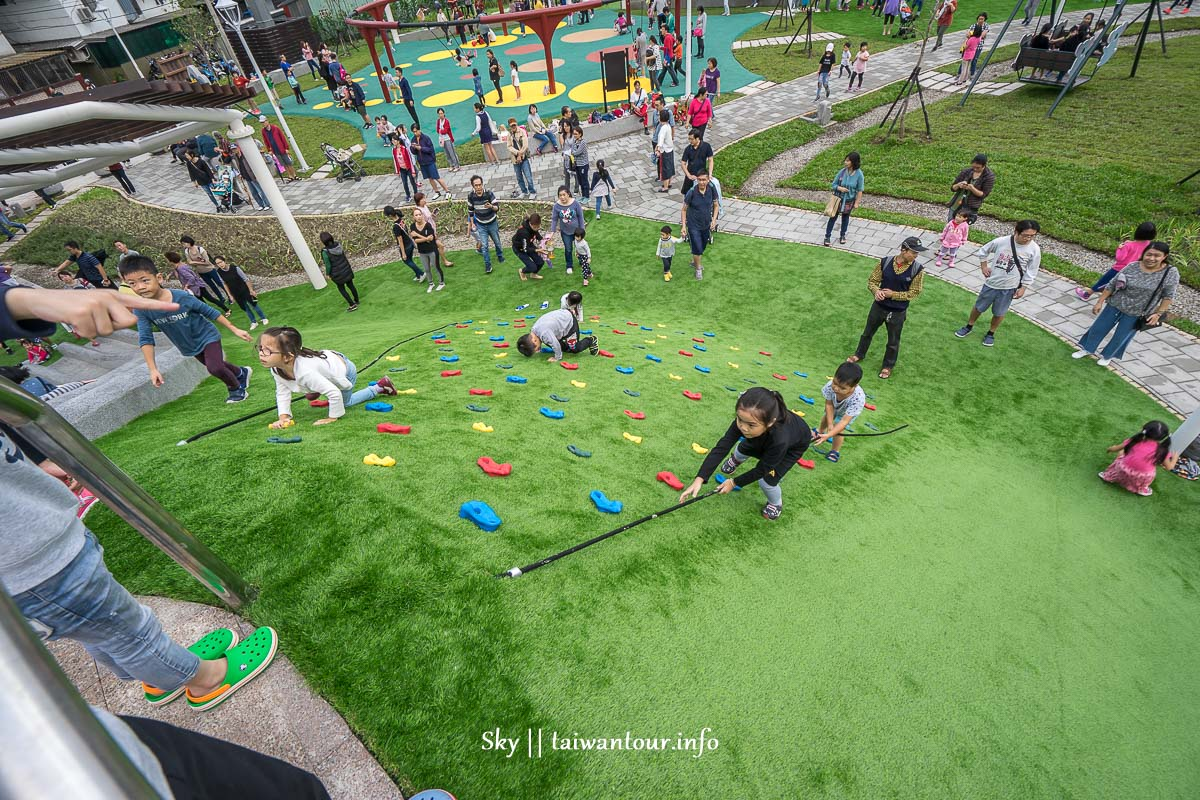 新北市汐止【白雲公園】好玩溜滑梯特色親子共融公園交通
