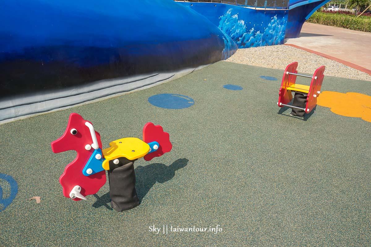 2018新北【八里商港公園】全臺第一座鯨魚地景共融式兒童遊戲場