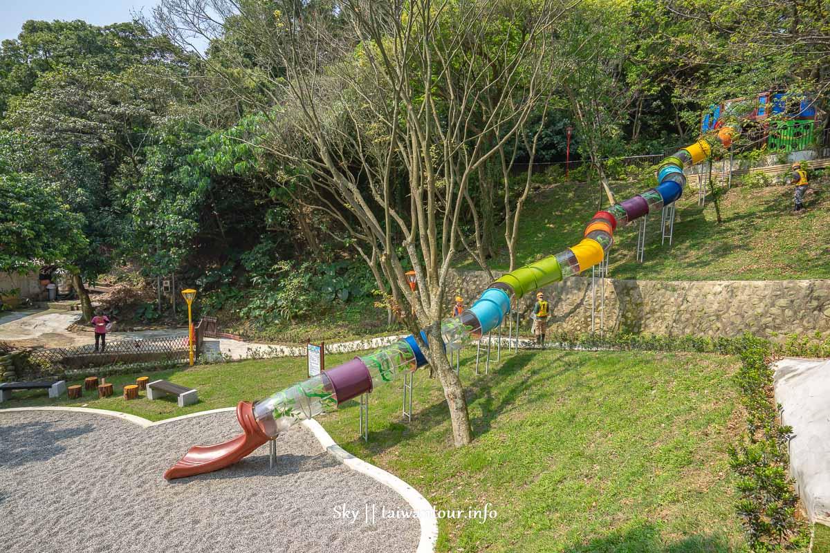 2019新北三峽親子景點【中山公園】全新30公尺樹藤溜滑梯、酷棧道、擺盪設施、平衡木、攀爬網