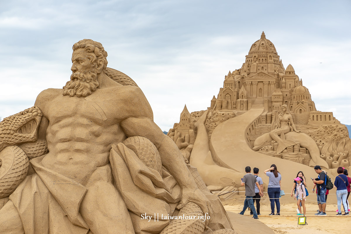 福隆沙雕 2019亞特蘭提斯沙雕城堡首圖