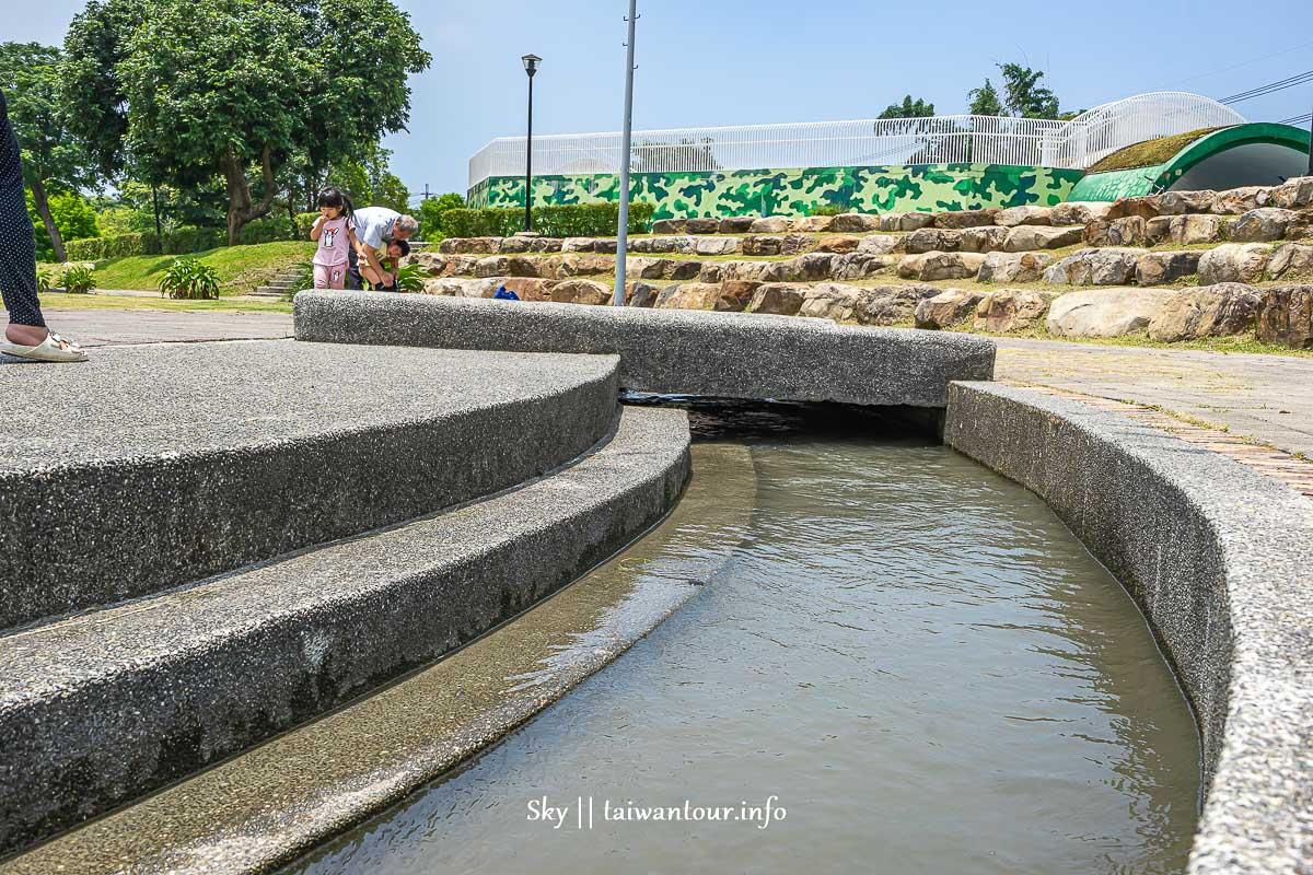 台中親子景點【圳前仁愛公園】神岡免費玩水特色公園