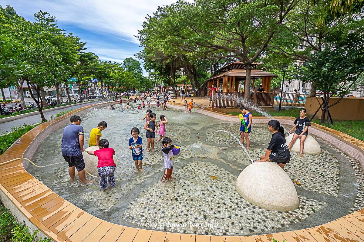 桃園免費玩水【民族公園 】親子景點.溜滑梯特色公園