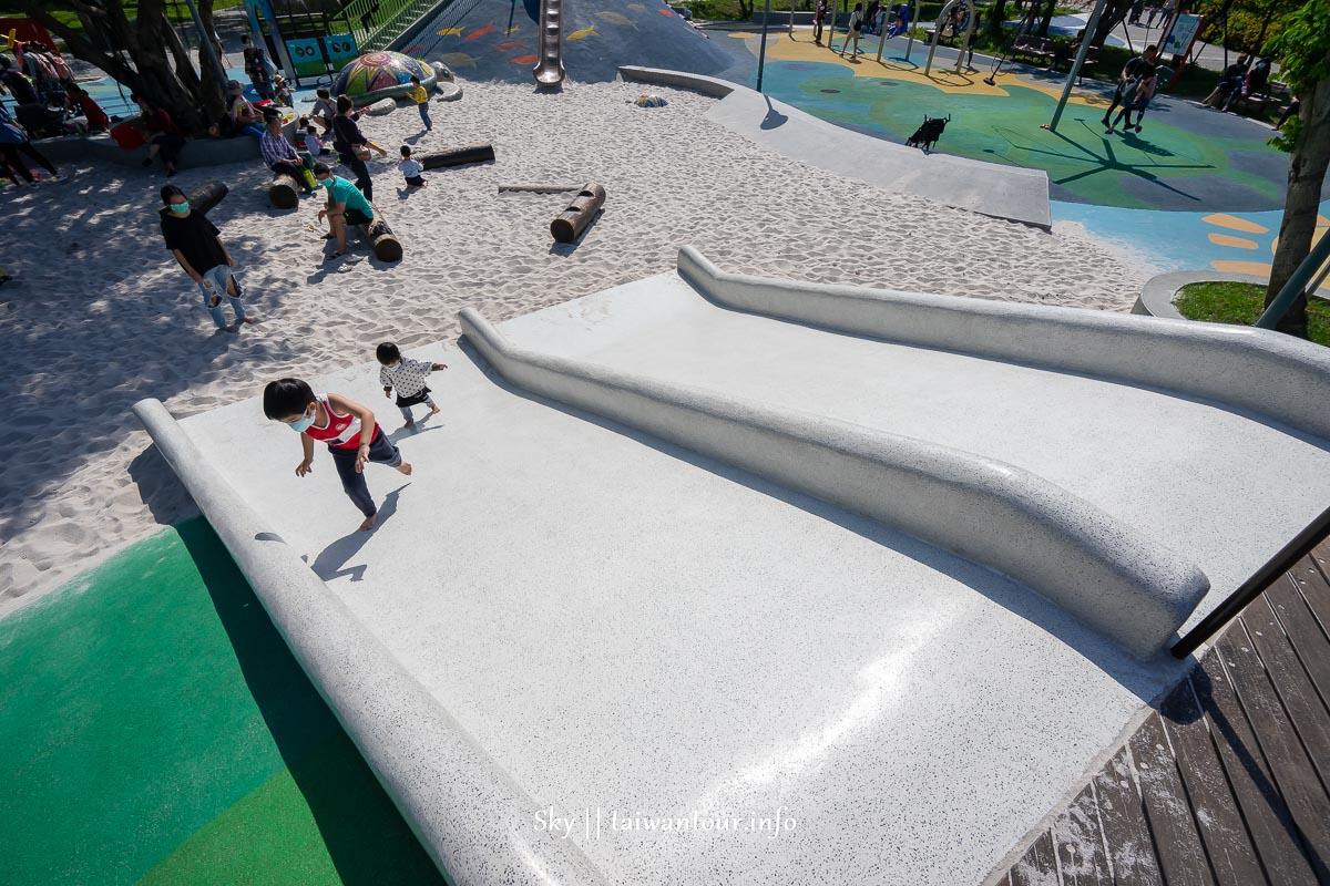 桃園平鎮【新勢公園】兒童遊戲場親子景點.共融式遊具