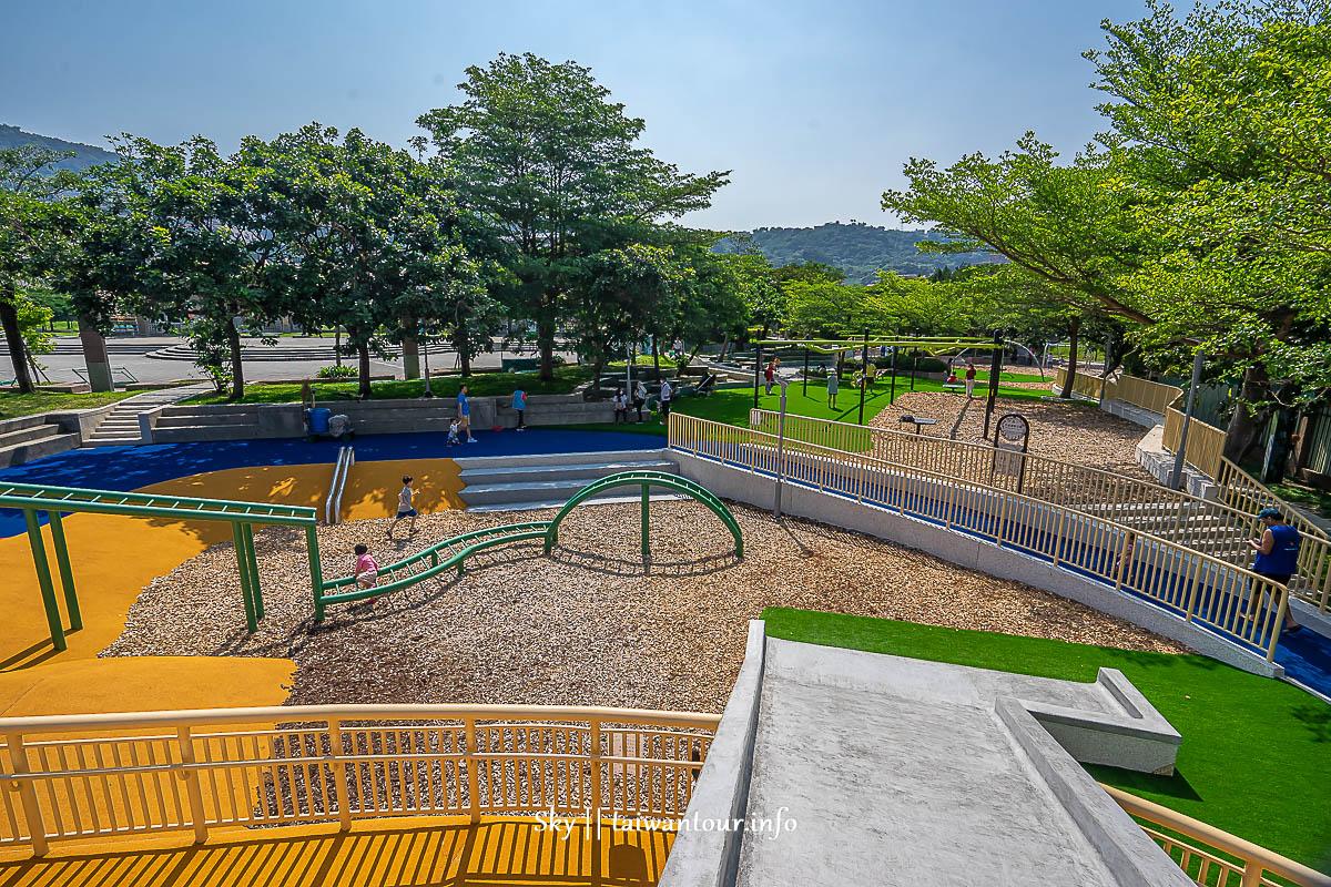 2020【天母夢想親子樂園】士林景點.天母運動公園共融溜滑梯.網球場