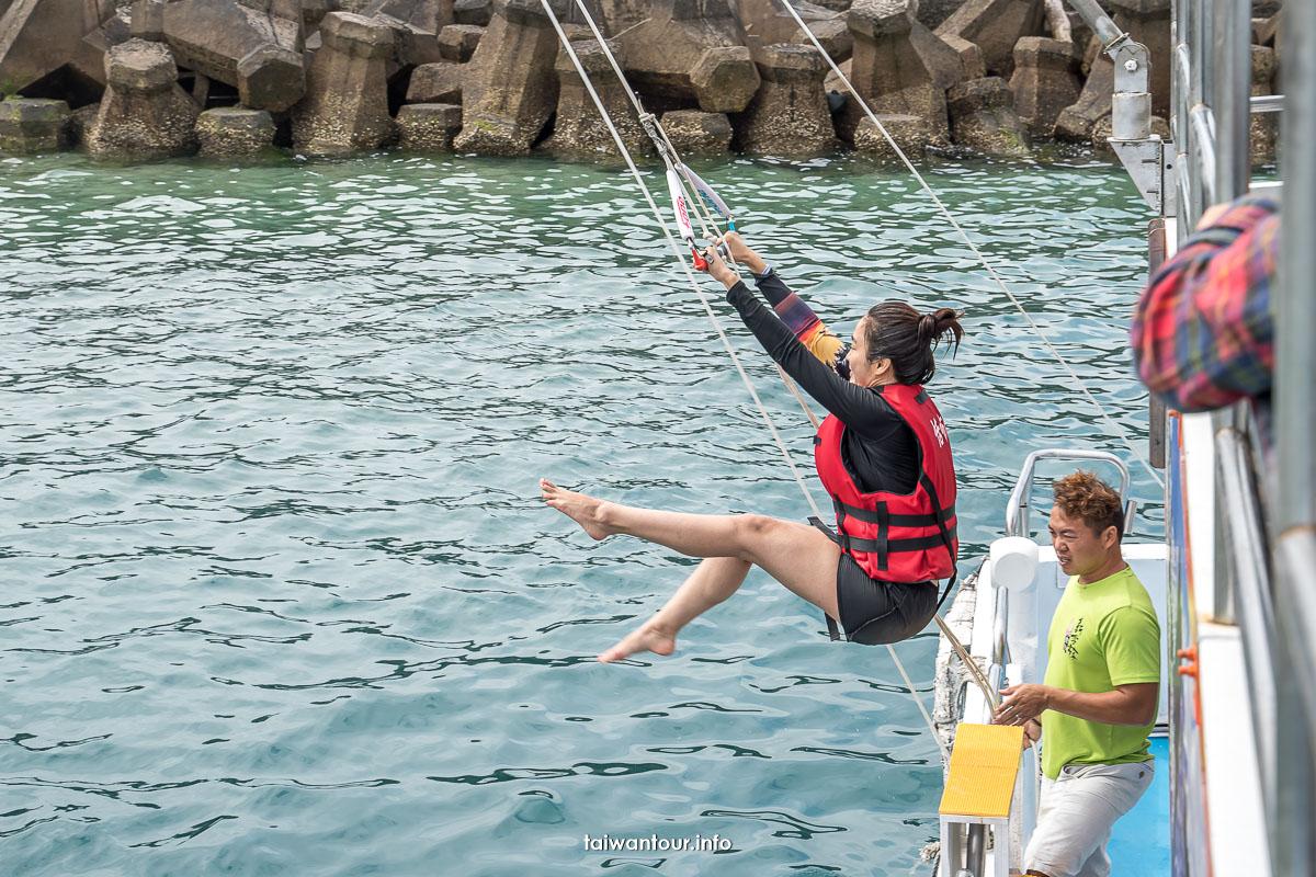 【澎湖東海跳島之旅】珊瑚礁釣魚浮潛.餵海鷗.海上獨木舟SUP