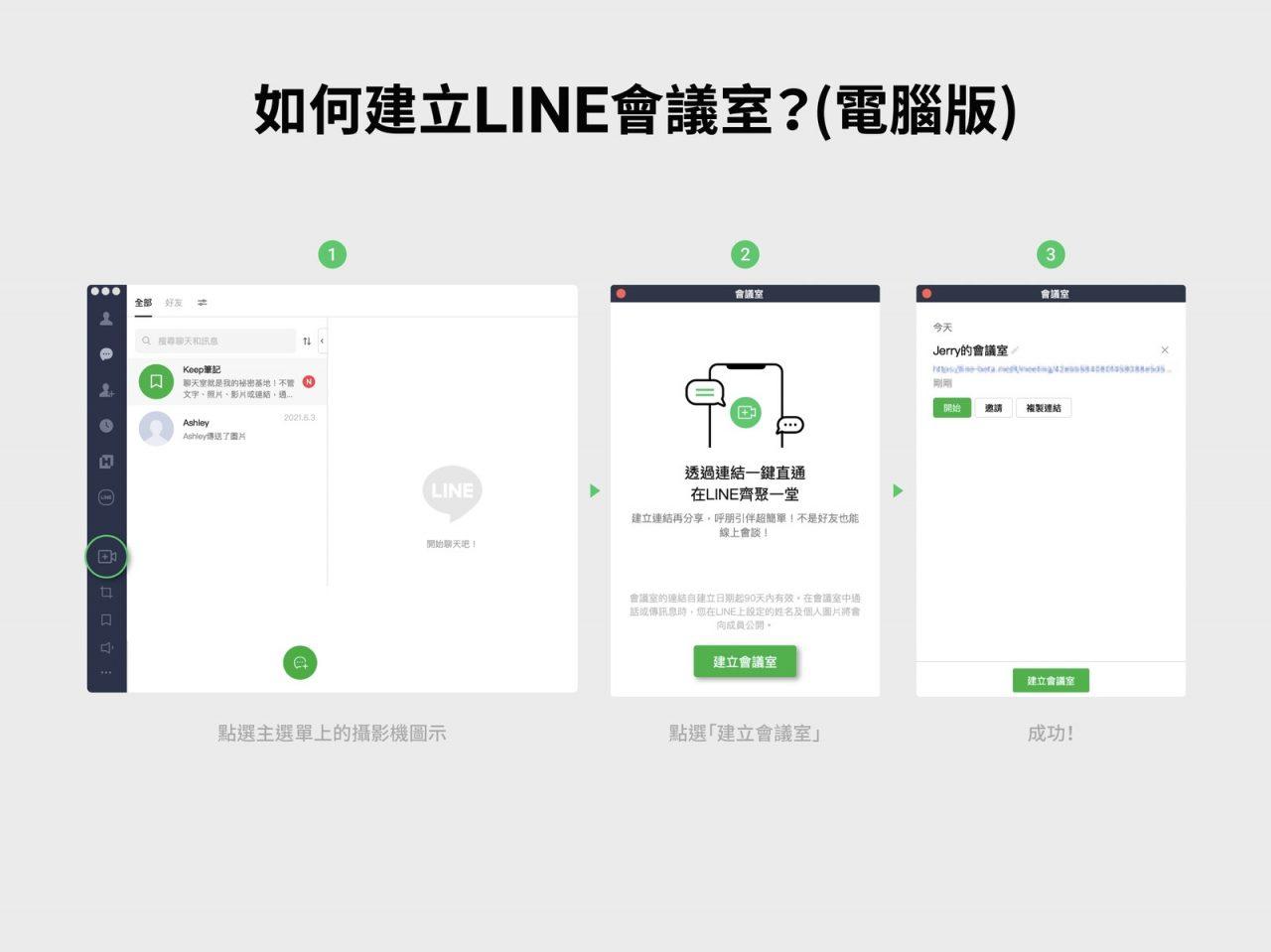 【全新LINE會議室功能教學介紹】透過連結就可加入會議喔!