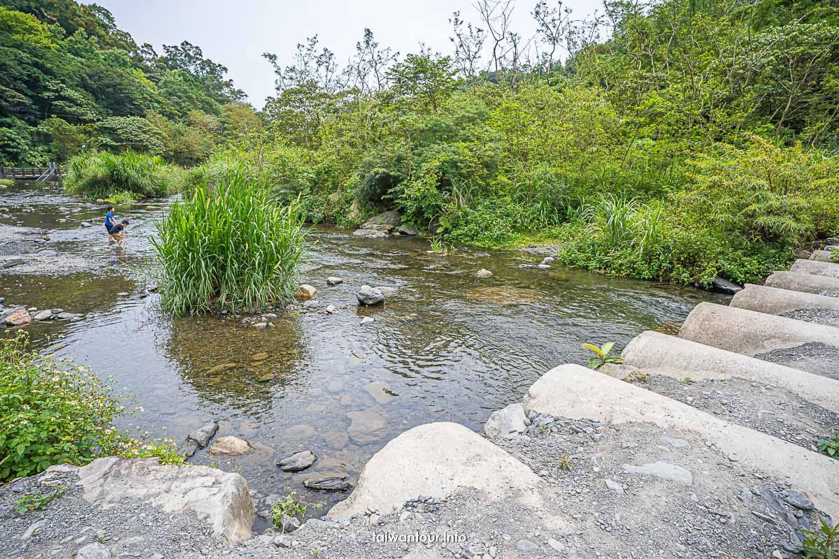 【得子口溪攔沙壩】宜蘭礁溪親子玩水景點