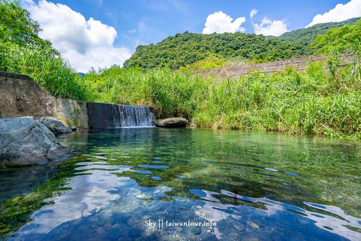 【萬榮鄉溫泉橋夢幻玩水秘境】靠近紅葉溫泉停車場
