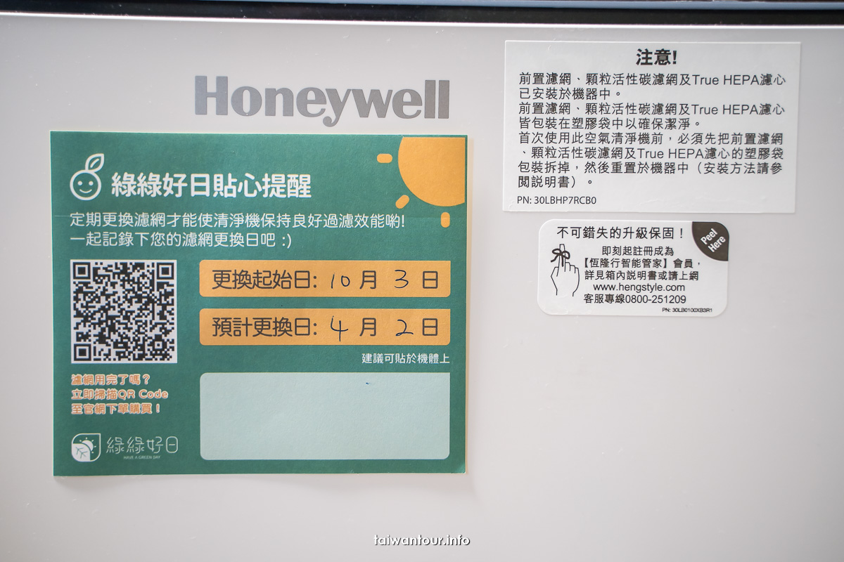 【綠綠好日】Honeywell空氣清淨機副廠濾網好用嗎?跟原廠有得比嗎?
